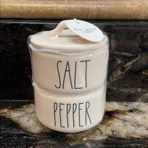 New Rae Dunn SALT & PEPPER Stackable Cellars